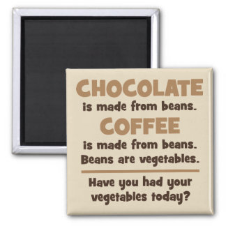 Chocolate, Coffee, Beans, Vegetables - Novelty Magnet
