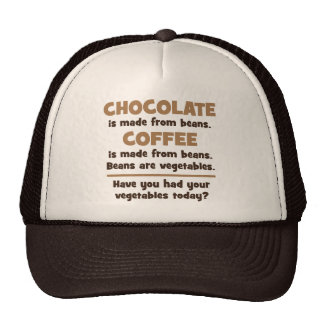 Chocolate, Coffee, Beans, Vegetables - Novelty Trucker Hat