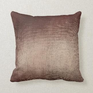 Chocolate Coffee Brown Abstract Blush Minimal Throw Pillow