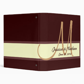 CHOCOLATE COFFEE CREAM Wedding Planning Binder
