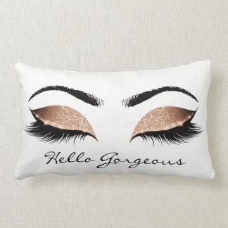 Chocolate Coffee Makeup Lashes Hello Gorgeous Lumbar Pillow