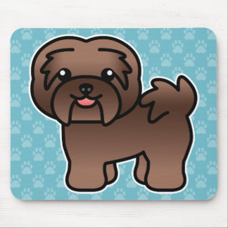 Chocolate Color Cartoon Havanese Mouse Pad