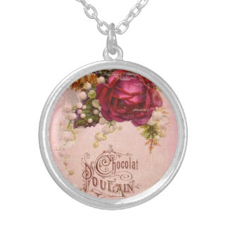 Chocolate Colt Rose Silver Plated Necklace