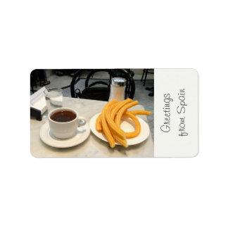 chocolate con churros label