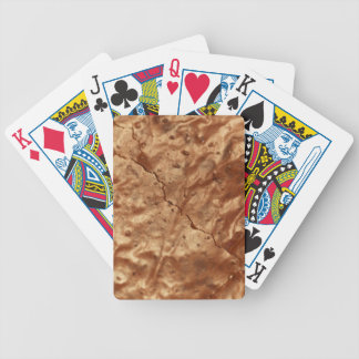 Chocolate cover of a cake bicycle playing cards