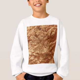 Chocolate cover of a cake sweatshirt