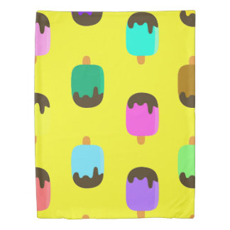 Chocolate covered color Ice pops duvet cover