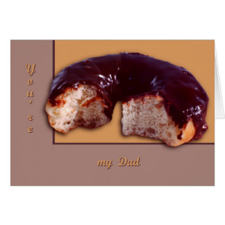 Chocolate Covered Donut Greeting Card