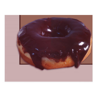 Chocolate Covered Donut Postcard
