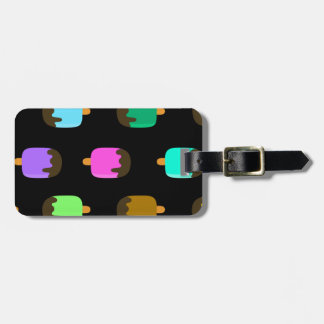 Chocolate covered ice pops luggage tag