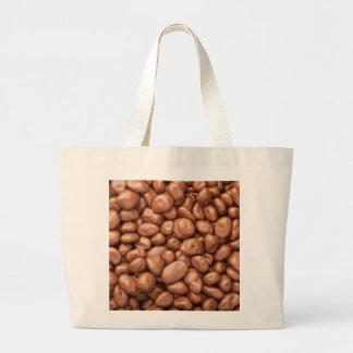 Chocolate covered raisins large tote bag