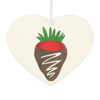 Chocolate Covered Strawberry Berry Chocoholic Food Car Air Freshener
