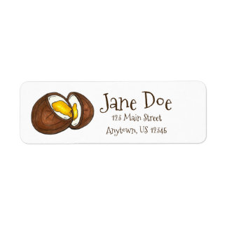 Chocolate Cream Easter Basket Egg Candy Label Return Address Label