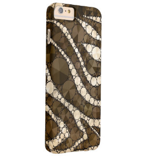 Chocolate Cream Zebra Bling Barely There iPhone 6 Plus Case