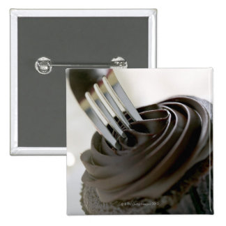 Chocolate cupcake 2 inch square button