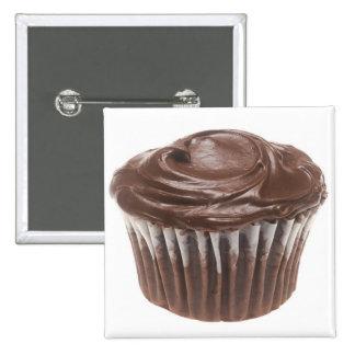 Chocolate Cupcake Pinback Buttons