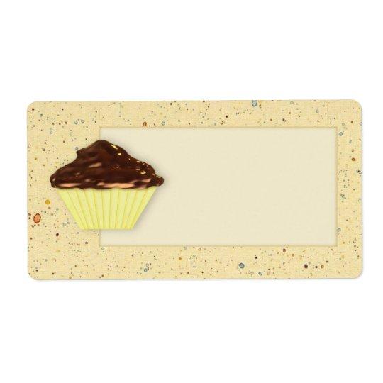 Chocolate Cupcake Label Shipping Label