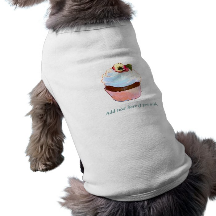 Chocolate Cupcake Pansy on Top Dog Clothes