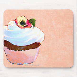 Chocolate Cupcake Pansy on Top Mouse Pad