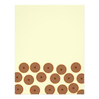 Chocolate Cupcake Pattern. Flyers