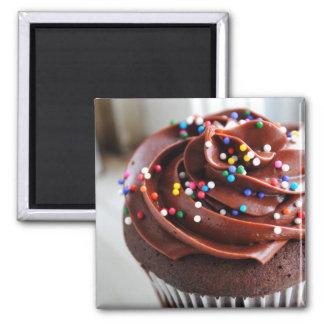 Chocolate Cupcake Photograph Magnet