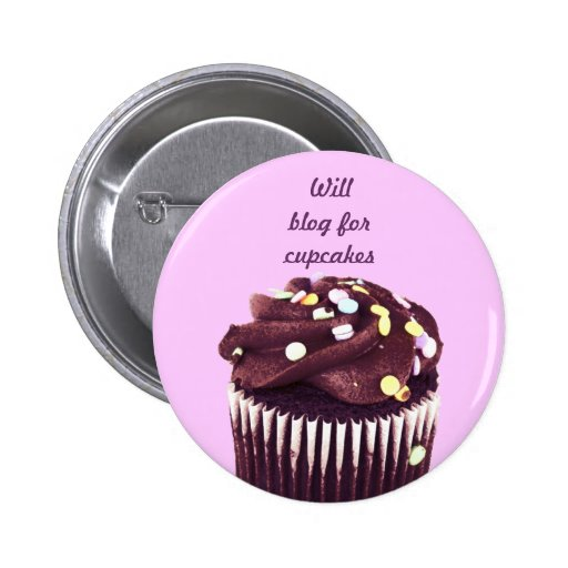 Chocolate cupcake - will blog for cupcakes button