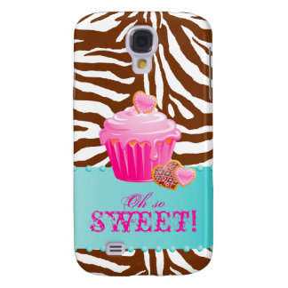 Chocolate Cupcake Zebra iPhone 3 Cover Pink