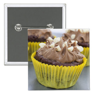 Chocolate Cupcakes 2 Inch Square Button