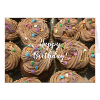 Chocolate Cupcakes For Your Birthday Card