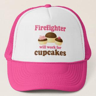 Chocolate Cupcakes Funny Firefighter Trucker Hat