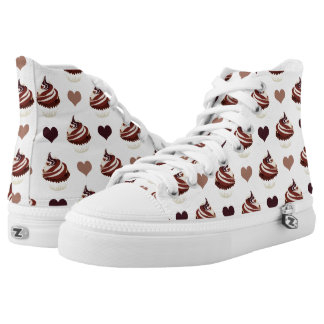 chocolate cupcakes pattern high tops