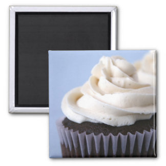 Chocolate Cupcakes Vanilla Frosting Magnet