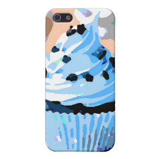 Chocolate Cupcakes with Blue Buttercream iPhone 5 Case
