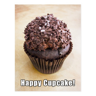 Chocolate Curl Chocolate Happy Cupcake Postcard