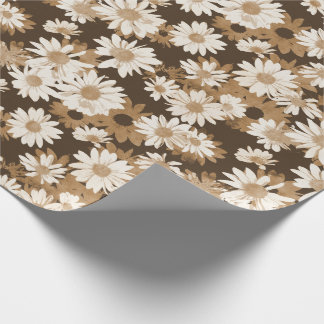 Chocolate Daisies Wrapping Paper