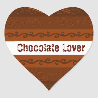 Chocolate Design Rustic Sticker
