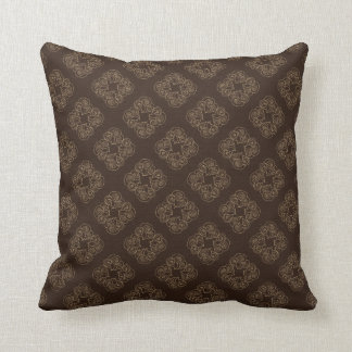 Chocolate Diamonds Pattern Throw Pillow