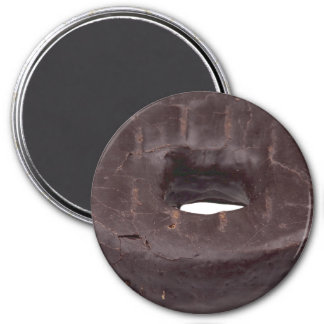 Chocolate Dipped Doughnut 3 Inch Round Magnet