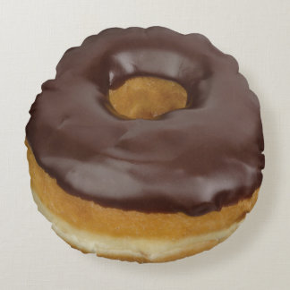 Chocolate Dipped Doughnut Round Pillow