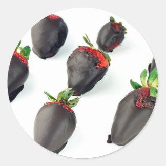 Chocolate Dipped Strawberries Classic Round Sticker