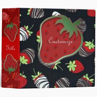 Chocolate Dipped Strawberries Pattern Binder