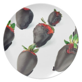 Chocolate Dipped Strawberries Plate
