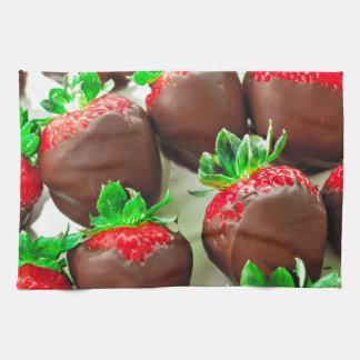 Chocolate Dipped Strawberries Print Hand Towel