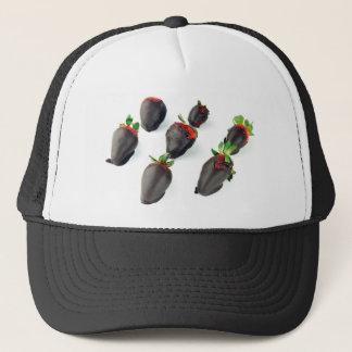 Chocolate Dipped Strawberries Trucker Hat