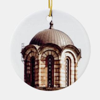 chocolate dome ceramic ornament