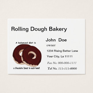 Chocolate Donut Bakery Business Card