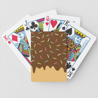 Chocolate Donut Bicycle Playing Cards