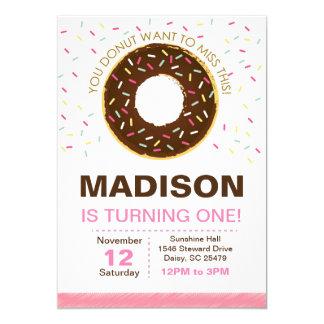 Chocolate Donut Birthday Invitation
