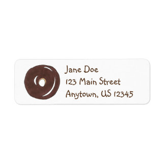 Chocolate Donut Doughnut Breakfast Food Address