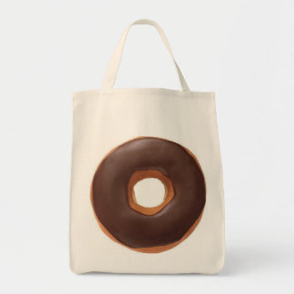 Chocolate Donut Grocery Tote